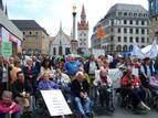 Demonstration am Marienplatz